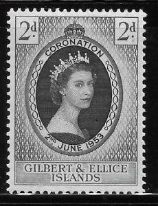 Gilbert & Ellice islands 1953 Coronation Sc 60 MH A2049