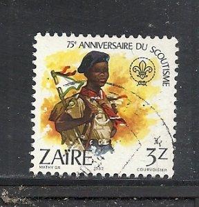 Zaire #1087 used cv $1.00 Boy Scouts