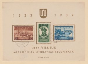 Lithuania Scott #316a Stamp - Used Sheet