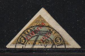 Estonia Sc C3 1923 overprinted airmail stamp used