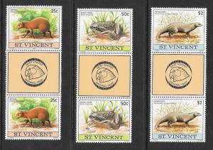 ST VINCENT Sc#608-610 Complete Gutter Pair Set Mint Never Hinged