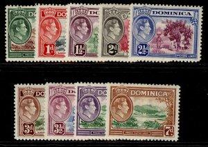 DOMINICA GVI SG99-105a, short set, NH MINT. Cat £15.