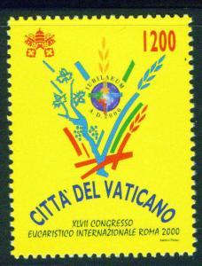VATICAN Scott 1165 MNH** 2000 47th Eucharist Congress CV$1.1