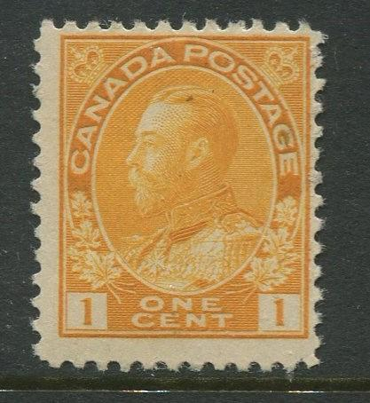 Canada - Scott 105 - Admiral Issue - 1911 - MNH - Single 1c Stamp