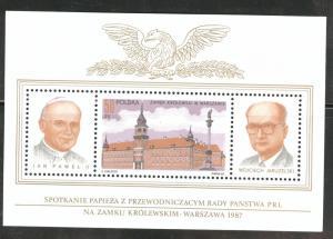 Poland Scott 2804A MNH** Warsaw Royal Castle, Pope JP2 CV$50