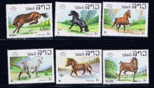 Laos 436-41 MNH 1983 Horses