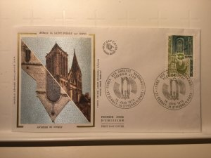 France Colorano silk FDC, 16 juin 1979, Année des abbayes normandes