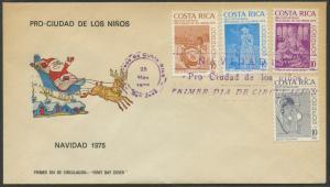 Costa Rica First Day Cover (FDC) Scott RA65-RA68 - Christmas | Santa Claus