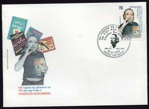 400 - NORTH MACEDONIA 2020 - Charles Bukowski - Writer - FDC