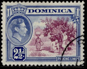 DOMINICA GVI SG103, 2½ purple & bright blue, FINE USED.