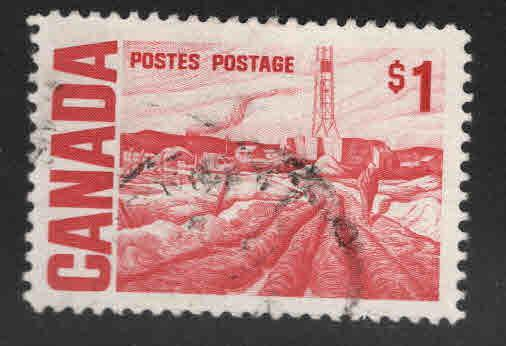 CANADA Scott 465B Used 1$ stamp