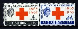 BRITISH HONDURAS QE II 1963 Red Cross Centenary Set SG 215 & SG 216 MINT