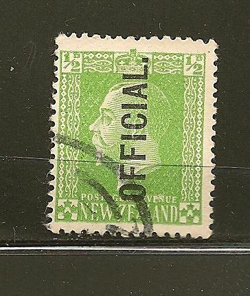 New Zealand O41 King George V Official Used