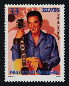Marshall Islands 704 MNH Elvis Presley, Guitar, Music