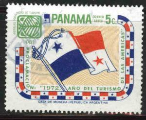 Panama  Scott C382 used flag airmail stamp