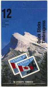 Canada USC#BK141b 1992 Flag Quick Sticks Complete Booklet - No Tag at Right Edge