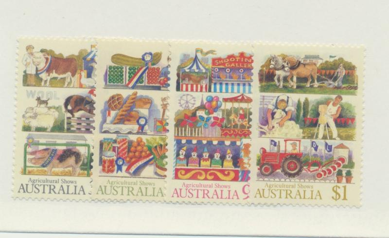 Australia Scott #1019 To 1022, Mint Never Hinged MNH, Agricultural Shows Issu...