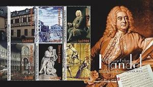 Sierra Leone - George Handel 6 Stamp  Sheet SIE0909
