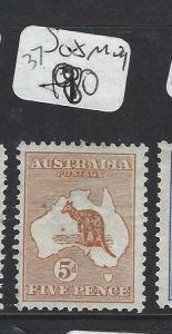 AUSTRALIA  (P2302B) KANGAROO  5 D  SG 8    MOG