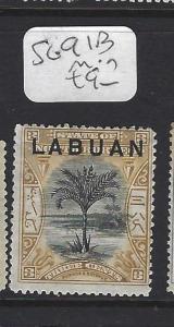 LABUAN   (P1709B)   3C  TREE  SG 91B   MOG