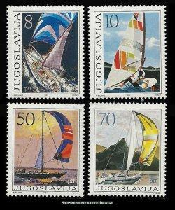 Yugoslavia Scott 1743-1746 Mint never hinged.