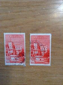 Monaco  Sc  # 319  Used   (1)  (2)