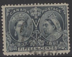 CANADA SG132 1897 15c SLATE FINE USED