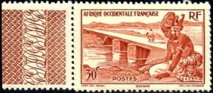 Bamako Dike, French Sudan, French West Africa, SC#37 Mint With Label