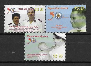 Papua New Guinea MNH Set Of Salvation Army