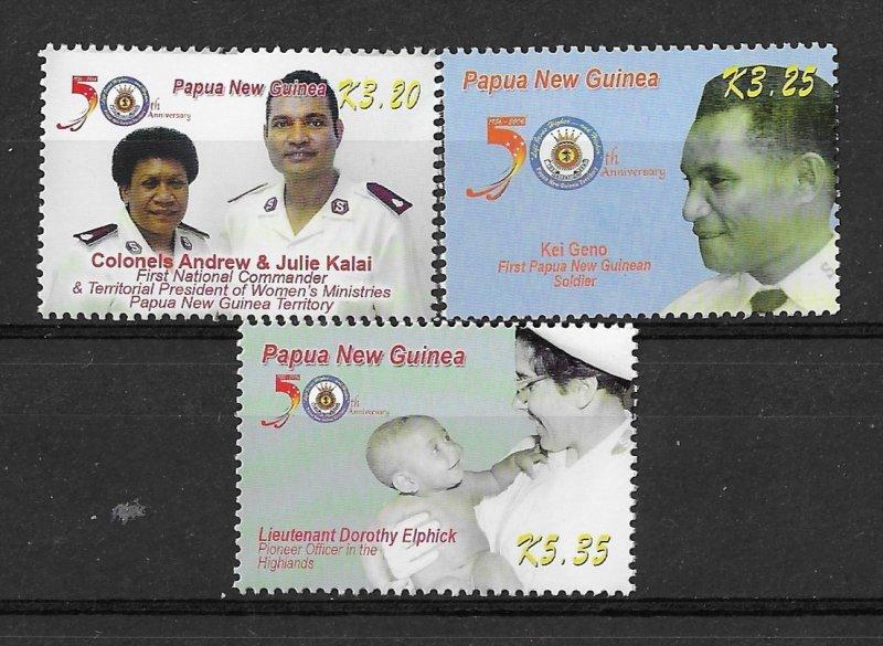 Papua New Guinea MNH Set Of Salvation Army