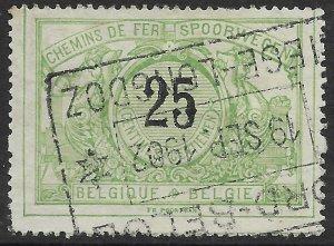 Belgium Q19 used.  Railway Stamp