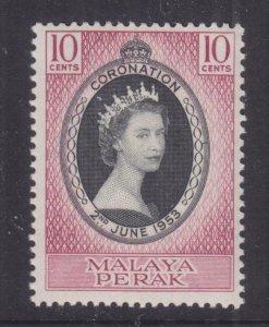 PERAK, MALAYSIA, 1953 Coronation 10c., mnh.