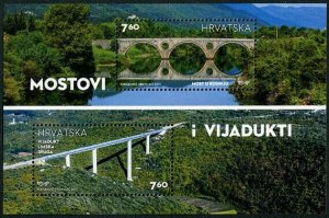 HERRICKSTAMP NEW ISSUES CROATIA Sc.# 1035 Bridges & Viaducts 2017 S/S