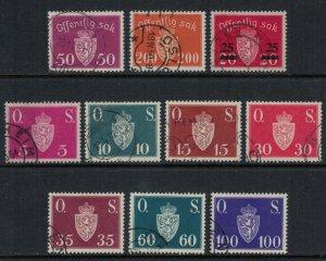 Norway #O55-64  CV $4.55