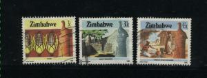 Zimbabwe  3 different used  PD