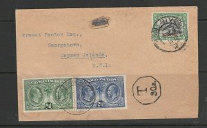 Cayman islands, 1933 Panton cover from South West Africa with Centenary issues U