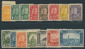 CANADA #162-177 VF OG NH SET OF 16 CV $1,108 HV8044