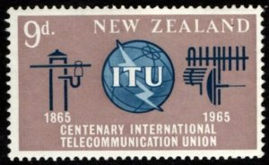New Zealand SG#828 ITU International Telecommunications Union (1965) MNH