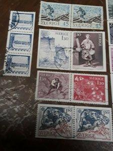 Sweden Stamp Pair / Strips