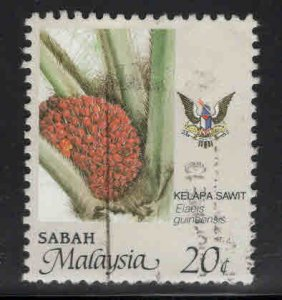 Malaysa Sabah  Scott 44 Used agriculture stamp