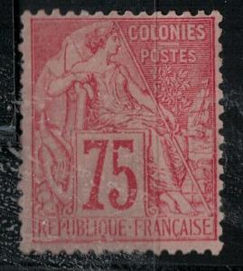 French Colonies 1881 SC 58 Mint SCV $120.00