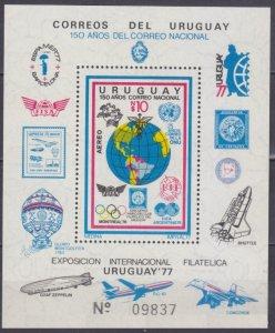 1977 Uruguay 1466/B35 1978 FIFA World Cup in Argentina 17,00 €