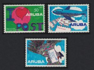Aruba Postal Service Children's Drawings 3v 1992 MNH SG#117-119