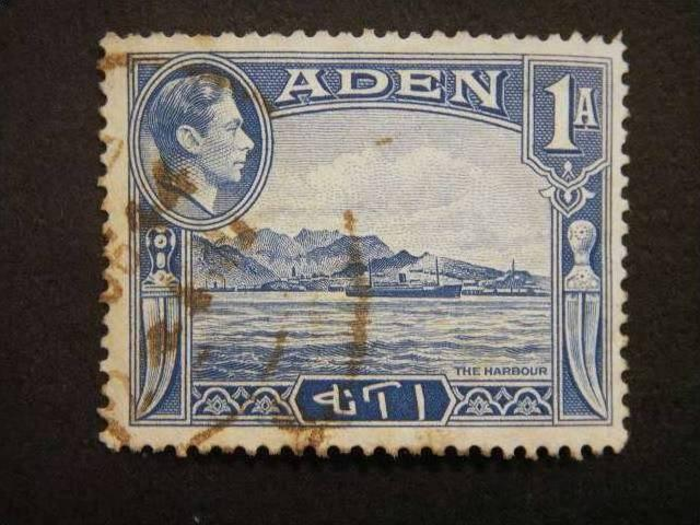 ADEN, 1937, used, 1a. blue, Harbour