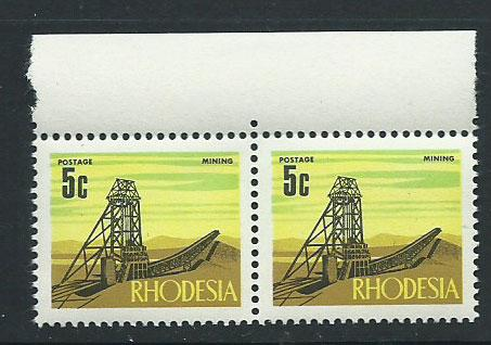 Rhodesia SG 443  MUH pair  with margin