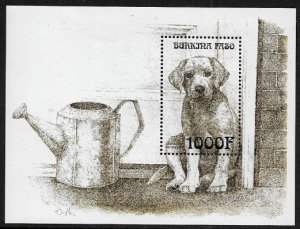 Burkina Faso #1144 MNH S/Sheet - Dog - Golden Retriever