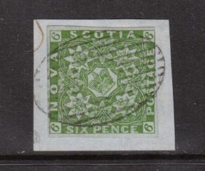 Nova Scotia #4 XF Used On Piece **With Certificate**