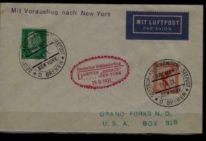 Germany/USA Catapult cover 19.8.31