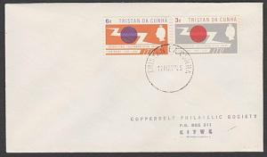TRISTAN DA CUNHA 1965 ITU set on plain FDC to Rhodesia.....................55439