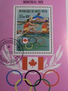 Upper Volta Stamp-1976 Olympic Games Montreal'76 Canada CTO MNH-S/S sheet